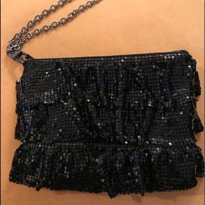 Black Sequined Wristlet by BCBG Max Azria